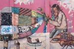 Saner y Sego mural at Museo Nacional de Culturas Populares (right)
